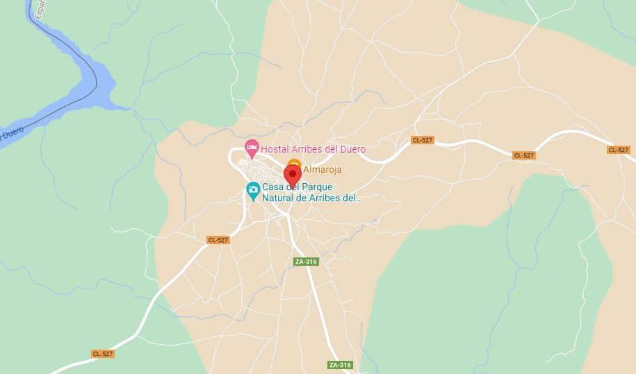Fermoselle. Municipio de Zamora. Mapa de Fermoselle